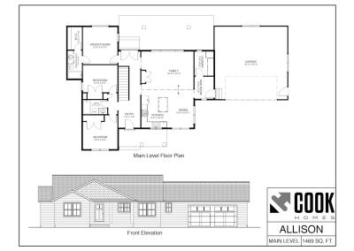 Allison Floor Plan /// Cook Homes