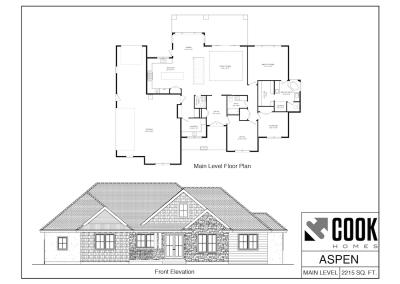 Aspen Floor Plan /// Cook Homes