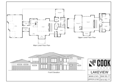 Lakeview Floor Plan /// Cook Homes