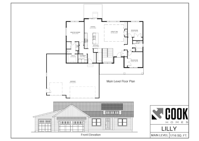 Lilly Floor Plan /// Cook Homes