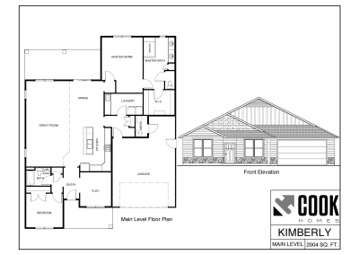 Kimberly Floor Plan /// Cook Homes